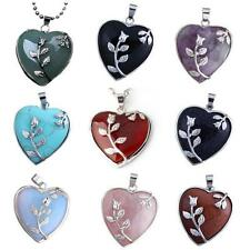 Starharvest Women's Silver Turquoise Heart Shape Pendant Necklace 18 inches