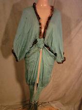 Vintage 20s Cocoon Coat Jacket MACRAME Fringe Flapper Top Wrap Edwardian Fur