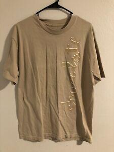 Vintage Chocolate Skateboards Short Sleeve T Shirt Size Men's large new rare tan