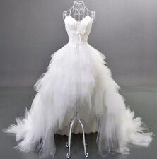 Feather white/ivory wedding dress Bridal High Low 2-4-6-8-10-12-14-16-18-20 ++
