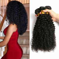 1/3 Bundles Kinky Curly Brazilian Curly Virgin Human Hair Extensions Weave Wefts