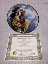 Franklin Mint American Indian Heritage Hear Me Great Spirit Plate by Paul Calle