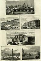 Kremlin Tzarsko Selo Palace Emperor Alexander 1856 ILN wood engraved print