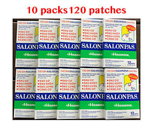 Salonpas Patch Hisamitsu Pain Relieving  - Made in Vietnam 10 Boxes 120 Patches