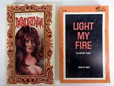 2 Vintage Adult Paperback Books Sleaze 1960's Light My Fire Immortalia