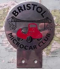 Used Chrome Car Mascot Badge : Bristol Microcar Club Bubble Car