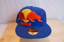 RED BULL fitted cap hat NEW ERA 59Fifty size 7 3/8 Rare Offset Logo