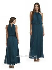 Mother Bride Emerald Pleated Chiffon Maxi Dress Gown Wedding Occasion Cruise 12