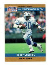 1990 PRO SET #1 BARRY SANDERS 1989 ROOKIE OF THE YEAR 2ND YEAR DETROIT LIONS HOF