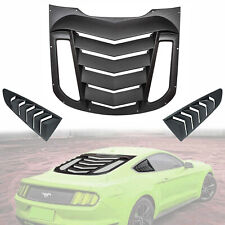 Rear and Side Window Louvers Sun Shade Cover for 2015 - 2019 Ford Mustang 3PC