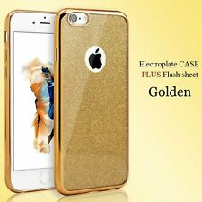 Gold Bling Glitter Detachable Ultra Thin GEL TPU Silicone Case for iPhone 7