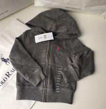 BNWT Polo Ralph Lauren Ragazze Designer Felpa con cappuccio 2T 18-24 LAV RRP £ 59.00