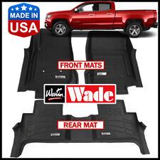 Westin Wade Sure-Fit 2015-2018 Chevrolet Colorado Crew Cab Floor Mats BLACK