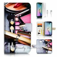 Samsung Galaxy ( S7 Edge ) Flip Wallet Case Cover P2440 Make Up