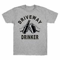 Driveway Drinker - Cheers Beer Lover Short Sleeve Men's T Shirt Gift Cotton Tee