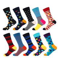 10Pairs/Lot Men Socks Streetwear Hip Hop Crew Cotton Colorful Funny Socks