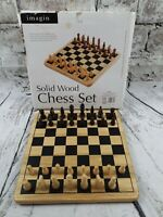 Chess Set. Solid Wood. 1 piece missing unfortunately