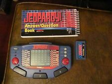 Vintage Jeopardy Handheld game Tiger Electronics with cartridge & book