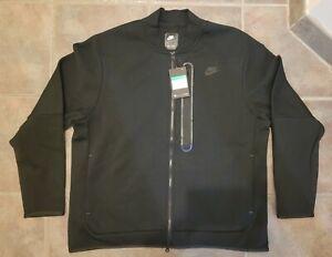 Nike Sportswear Tech Fleece Full Men's Sz XL Black Zip Bomber Jacket CZ1797 010