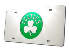Boston Celtics NBA Logo Silver Mirror Look LASER License Plate