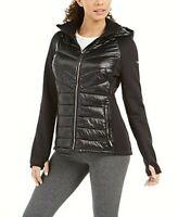 Calvin Klein Women's Performance Hooded Athletic Jacket Sm Black Free Ship NWT