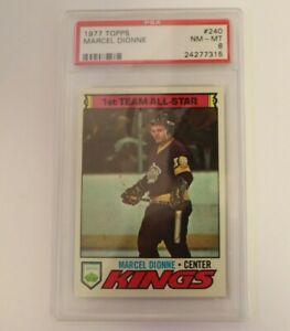 1977 Topps Hockey O-Pee-Chee Marcel Dionne #240 PSA 8