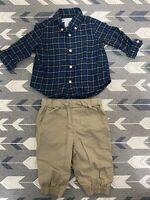 Polo Ralph Lauren Baby Boys Set Size 6 Months Dress Shirt Pants