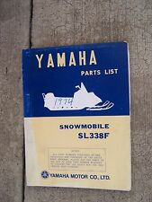 **1973 Yamaha SL338F Illustrated Snowmobile Parts List MORE SNO-MO IN STORE  V