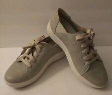 Fitflop Valentia Sneakers Women's Size 5 Cotton Taupe Flexible Lightweight EUC