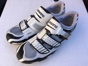 Shimano M240 SPD Carbon Cycling Shoes UK10 / EU45 WHITE/SILVER Gravel/MTB fizik