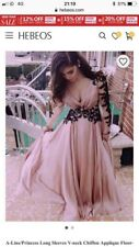 Brand new pink princess prom dress lovely detail never worn size 12-14