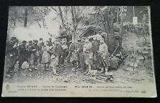 Carte Photo 1914-1918 Corvée de cuisiniers 1914 WW1 French soldiers camp trench
