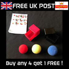 Gozinta Boxes - In and Out Parabox with Sponge Balls - Close-up Magic Trick -NEW