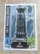STAR WARS Force Awakens - Force Attax Trading Card #020 FX-7 Medical Droid