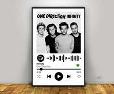 One Direction Infinity Poster, Spotify Songs Poster, Infinity Song Print,Vintage
