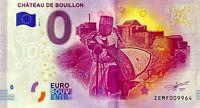 BILLET 0  EURO  CHATEAU DE BOUILLON BELGIQUE 2017  NUMERO DIVERS