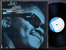 STANLEY TURRENTINE That's Where It's At LP BLUE NOTE BLP 4096 US '62 NY EAR MONO