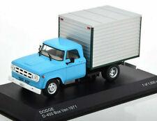 WHITEBOX WB275T, 1971 DODGE D-400 BOX VAN, LIGHT BLUE / GREY, 1:43 SCALE