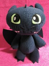 "Dreamworks Dragons Defenders of Berk Squeeze and Growl Toothless Plush 12"" 2013"
