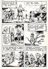 SYLVER DES COLLINES (TITO MARCHIORO) MERVEILLEUSE PLANCHE ORIGINALE PAGE 49