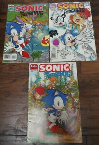 SONIC The HEDGEHOG Comic Book Lot of 3 Issues #40 41 & 42 1996 Archie Adventure
