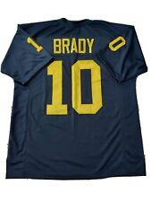 New TOM BRADY Michigan 4XL College Custom Stitched Football Jersey Men's