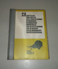 Parts Catalog/Spare Parts List Claas Rollant 62 Press - Stand 05/1983