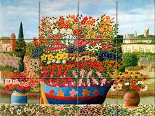 Art André Bauchant Mural Ceramic Flowers Boat Backsplash Bath Tile #31