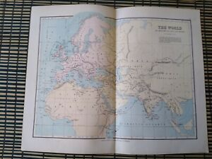 The World as Known to the Ancients - Map Extracted from Phillips' Atlas c-1890s