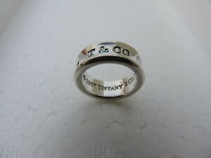 TIFFANY & CO. 1997 STERLING SILVER 925 VINTAGE 1837 CONCAVE BAND RING SIZE 4 1/2