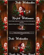 Auktionsvorlage Christmas Baby Weihnachten Reborn Mobile Responsive Template 667