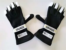 SAVAGE SFI 3.3/5 RACING 2 LAYER GLOVES  BLACK  SMALL