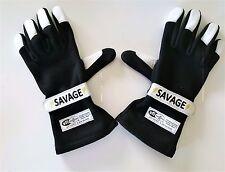 SAVAGE SFI 3.3/5 RACING 2 LAYER GLOVES  BLACK  X LARGE