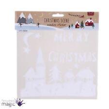 Decoración de ventanas de Navidad color principal blanco